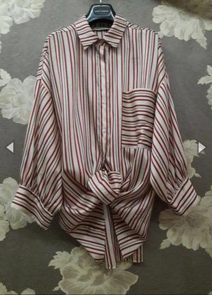 Блуза, рубашка, сорочка в полоску от zara🌈