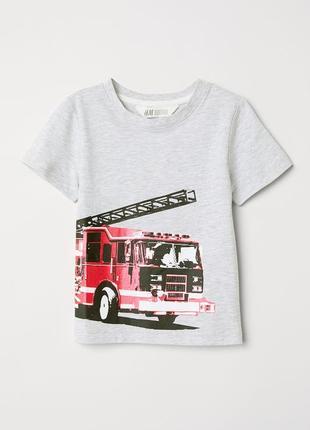 Футболка с пожарной машиной