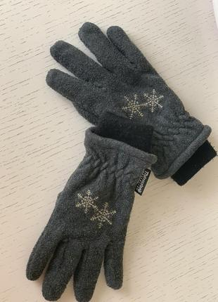 Серые перчатки для мальчика thinsulate insulation