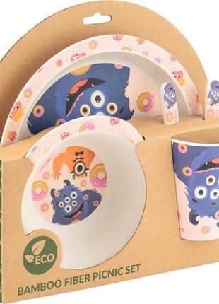 Набор посуды из бамбука kite jolliers k19-500, 5 предметов