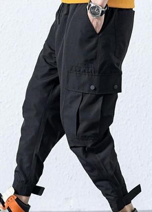 Штаны с карманами карго, размер хл