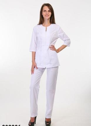 Белый костюм медицинский, батист, р. 42-56; женская медицинская одежда, 892286