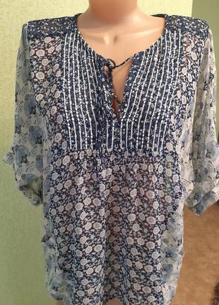 Крепдешиновая блуза пляжная  туника