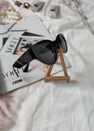 Очки окуляри темные черные солнце солнцезащитные стиле 60-х трендовые новые7 фото