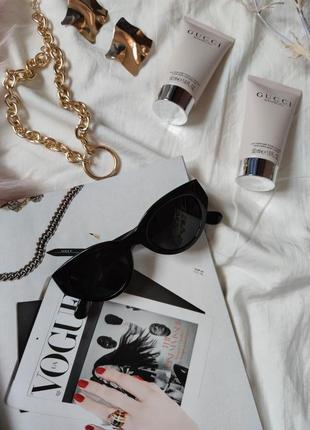 Очки окуляри темные черные солнце солнцезащитные стиле 60-х трендовые новые4 фото