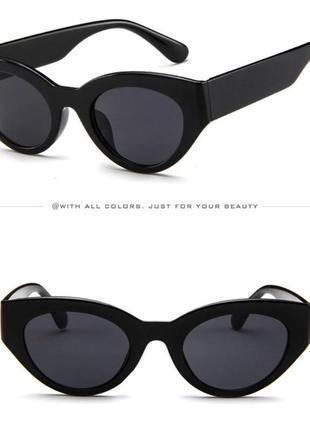 Очки окуляри темные черные солнце солнцезащитные стиле 60-х трендовые новые9 фото