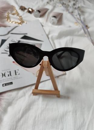 Очки окуляри темные черные солнце солнцезащитные стиле 60-х трендовые новые8 фото