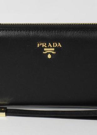 6eb233ca3e43 ... Кошелек женский кожаный на молнии prada 60019-a черный, расцветки2 фото  ...