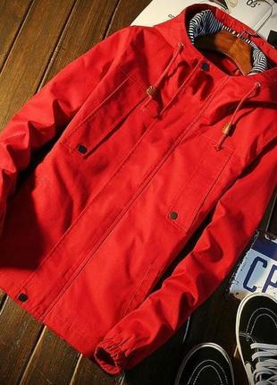 Хлопковпя куртка с капюшоном, размер л