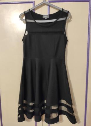 Шикарное черное платье нарядное