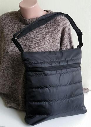 Сумка планшет под а4 легкий на плечо тканевый деми дутик недорого украина цвета