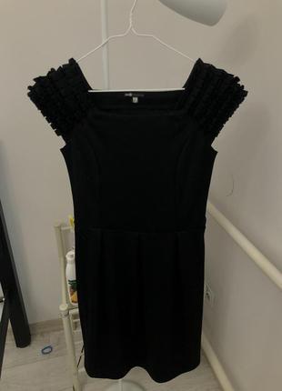 Нарядное черное платье oodji