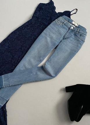 Крутые джинсы скинни с необработанным краем tom tailor р