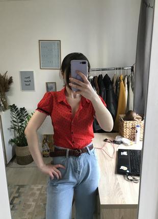 Блуза в сеточку в французском стиле