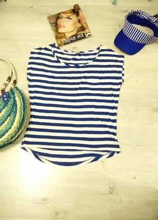 Фирменная женская майка. женская майка в полоску. футболка в морском стиле.