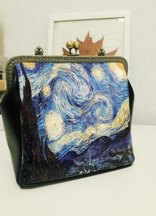 """Женская сумка со стилизацией под """"звездную ночь"""" ван гога"""