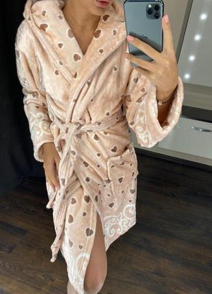 Махровые халаты длина: до колена с капюшоном материал: ангора-бамбук турция