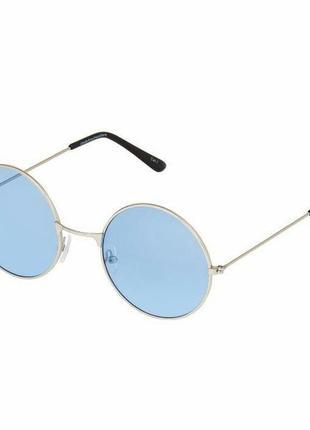Круглые очки с голубыми линзами в стиле ray ban унисекс