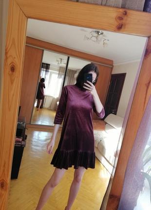 Велюровое платье stradivarius