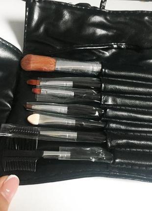 Набор кистей для макияжа в чехле bremani / новые