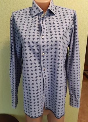Рубашка в мужском мтиле гусиная лапка