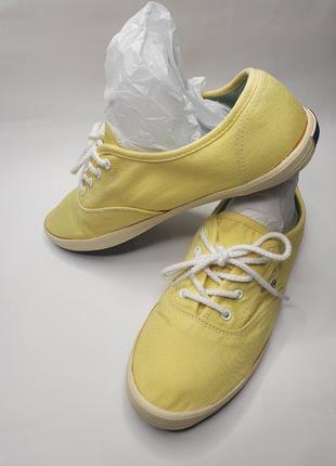 Модные летние женские жёлтые кеды gant гант. стиль казуал
