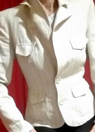 Пиджак женский короткий светлый лен 46 размер new look