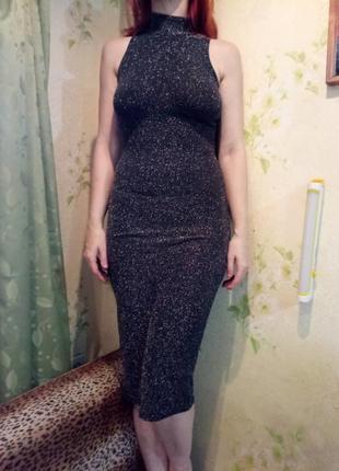 Платье вечернее люрекс