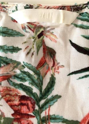 Брендовое котоновое платье свободного фасона от h&m2 фото