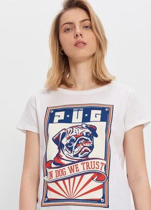 Крутая стильная футболка с мопсиком house