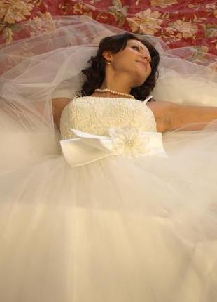 Свадебное платье для утонченной невесты