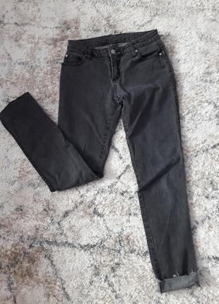 Черные джинсы скини узкие стрейч тонкие брюки