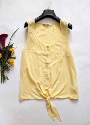 Легкая блуза с завязками