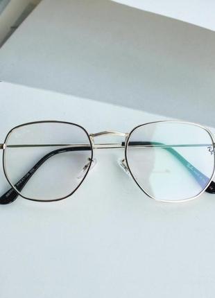 Компьютерные имиджевые очки с защитой глаз, окуляри для пк металической оправе