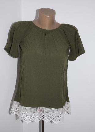 Крута блузка,кольору хакі