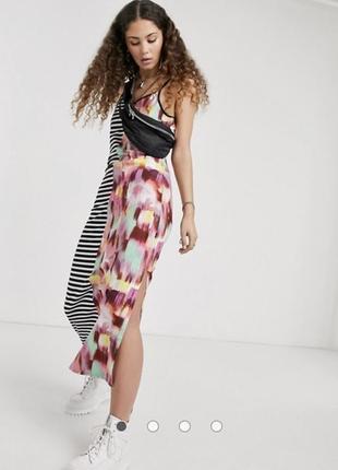 Комбинированное платье asos