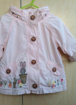 Куртка ветровка для девочки 1-1,5 года