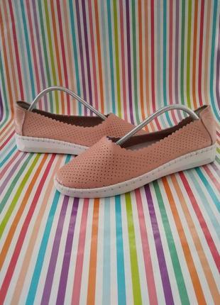 Шкіряні туфельки мокасини