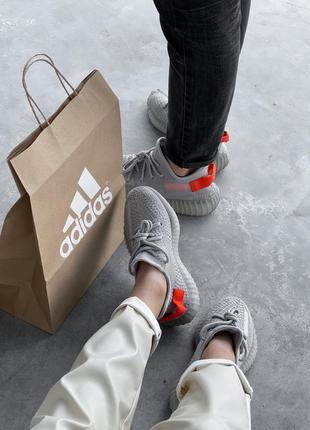 Adidas yeezy boost 350 grey серые ⭕ женские кроссовки ⭕ наложенный платёж