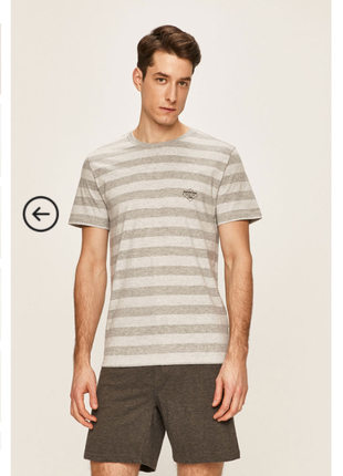 Мужская пижама, домашний комплект шорты и футболка, серый цвет