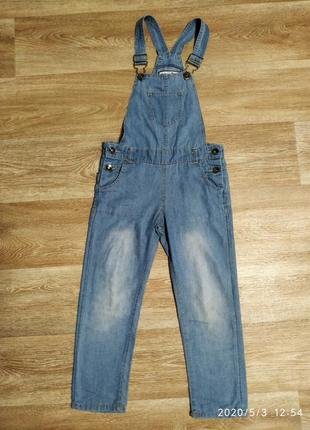 Комбинезон джинсовый лето