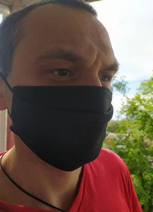 Многоразовая черная маска для мужчины/женщины