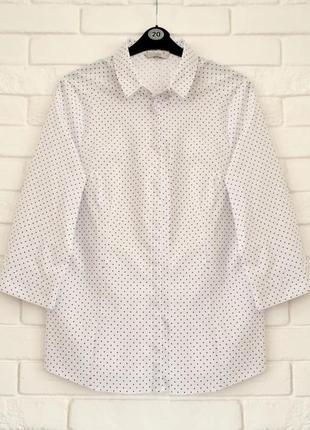 Красивая офисная рубашка из стрейч коттона george uk18
