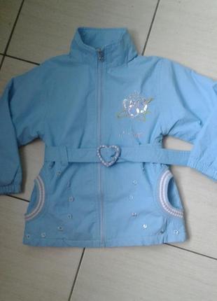 Легкая бирюзовая курточка для девочки