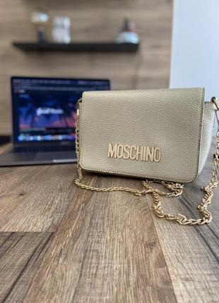 Сумка moschino, bag, золотая , на цепочке, клатч