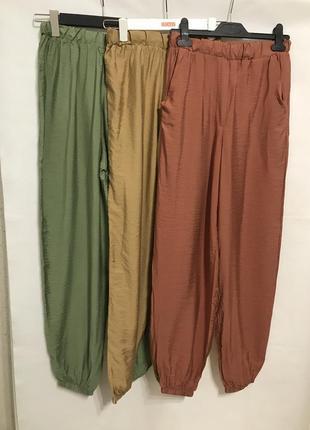 Легкие штаны с высокой посадкой