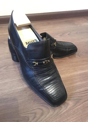 Винтажные кожаные мужские туфли лоферы bally