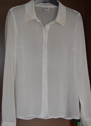 Блузка из креп шифона с декором