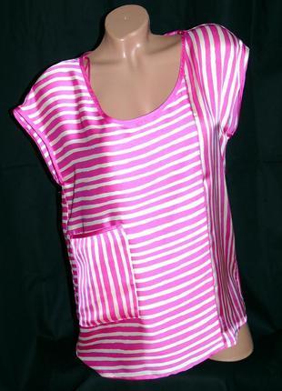 Zara шикарная блуза в полоску - s - m - l