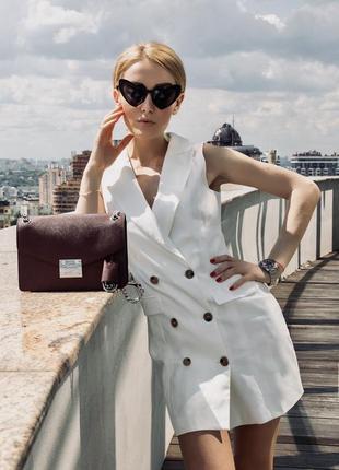 Стильное белое платье в стиле zara!